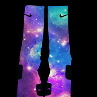 Cotton Candy Galaxy Nike Elites