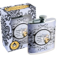 Erin Smith Flask and Funnel, Mommy Water Gets Two Olives.. , 7-Ounce