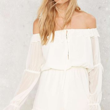 Nasty Gal Drifter Off-the-Shoulder Romper