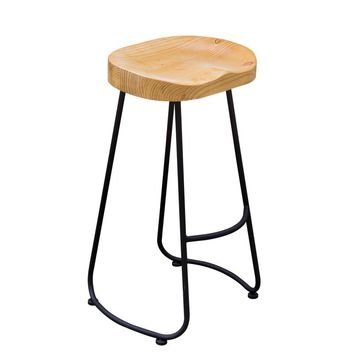 The village of retro furniture,Vintage metal bar chair,anti rust treatment,Commercial Bar furniture sets,100% wood bar stool