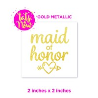 Maid of Honor gold tattoo