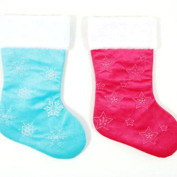 Felt Embroidered Christmas Stockings Case Pack 36