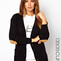 ASOS Curve | ASOS CURVE Elbow Patch Cardigan at ASOS