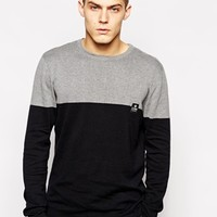 Jack & Jones Color Block Crew Neck Knitted Sweater