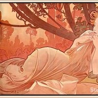 Dusk Paintings by Alphonse Mucha impressionist art High quality Hand painted free shipping worldwide