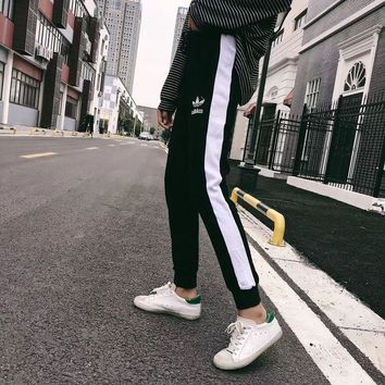 DCCKFM6 adidas' Women Fashion Leisure Running Pants Sweatpants