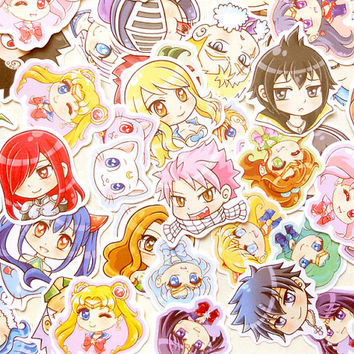 Anime Stickers. Sailor Moon Sticker. Cute Chibi Stickers. Kawaii Sticker. Laptop Sticker. Waterproof Sticker. Party Favors. Anime Gift. Geek