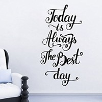 Wall Decals Quote Motivation Today Is Always The Best Day Decal Vinyl Sticker Family Bedroom Nursery Baby Room Home Decor Art Murals Office Ms580