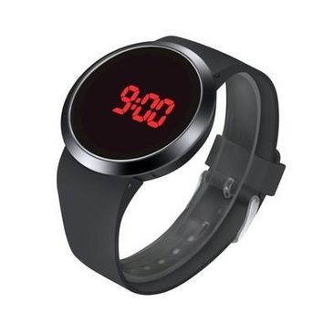 Fashion Waterproof Men LED Touch Screen Day Date Silicone Wrist Watch Trendy gifts [8833616012]