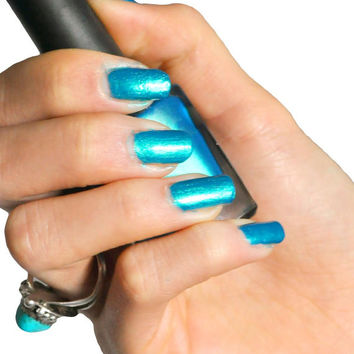 You Blue Me Away- 5 Free Pearlescent Blue Indie Nail Polish 5 Free
