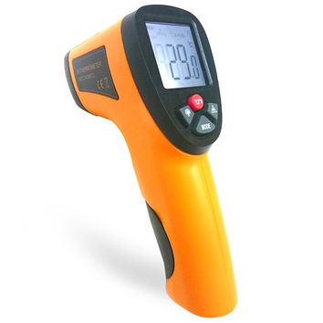 2016 Hot Sale Non-contact IR Gun Style Infrared Digital Temperature Thermometer Device for Food Safety and Fire Inspectors