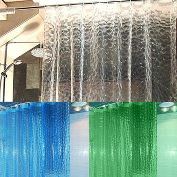 Translucent 3D Thickened 1.8/2M Shower Curtain