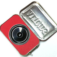 Portable Altoids Amp and Speaker for iPhone MP3 Player -Red/Red