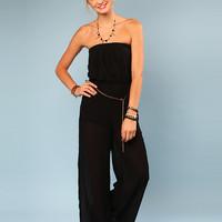 Papaya Clothing Online :: CHAIN BELTED JUMP SUIT