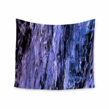 "Ebi Emporium ""RAINBOW BARK 6"" Purple Lavender Abstract Nature Painting Mixed Media Wall Tapestry"