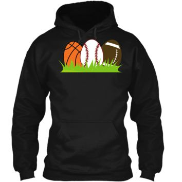 Basketball Baseball Football Easter Sports T-shirt Pullover Hoodie 8 oz