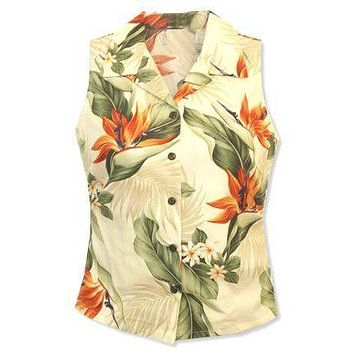 sienna hawaiian sleeveless blouse