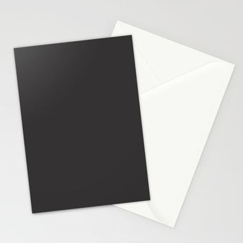 Midnight Black Stationery Cards by spaceandlines
