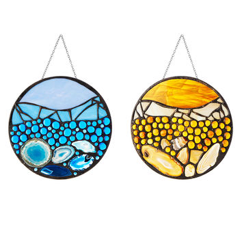 Strata Stained Glass | suncatcher, stained glass art