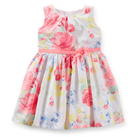Sateen Floral Easter Dress