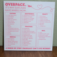 Packing Checklist Square Notepad