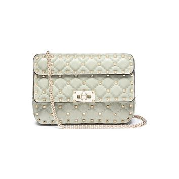 Valentino | 'Rockstud Spike' small quilted leather crossbody bag | Women | Lane Crawford - Shop Designer Brands Online