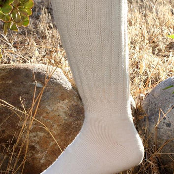 Knee-Hi Alpaca Socks -  White