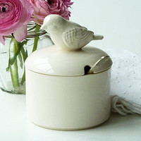 ceramic bird sugar bowl by sorbet living | notonthehighstreet.com