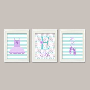 Baby Girl Nursery Art Girl Nursery Decor Ballerina Nursery Art Ballerina Bedroom Tutu Slippers Set of 3 Prints Girl Bedroom Wall Art Decor