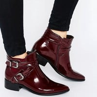 Glamorous Strap Chelsea Flat Ankle Boots