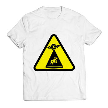 Vector Funny Sign Of Cow Abduction Unique Clothing T shirt Men