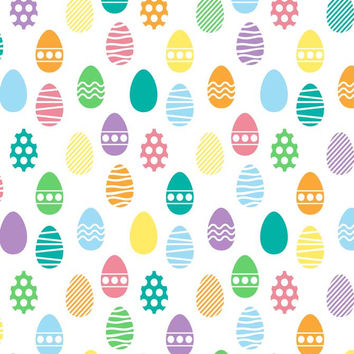 6296 Pastel Pattern Background Easter Eggs Backdrop