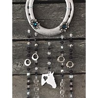 Jewels and Horse Horseshoe Suncatcher