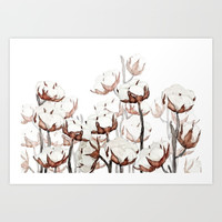 cotton field Art Print by Color and Color