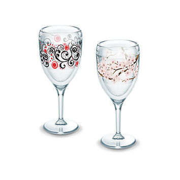 Cherry Blossom, Berry Swirlwind Insulated Stemmed Glass Double Set by Tervis