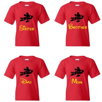 TurnTo Designs - Disney Mickey Surf Board Family Vacation Shirts with Names