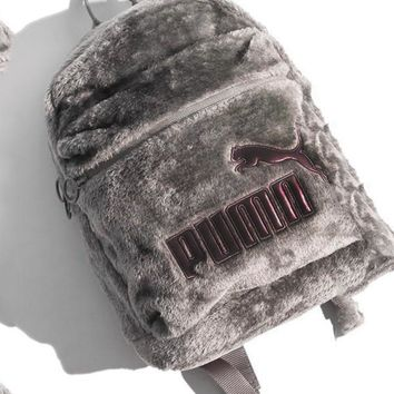 PUMA Wns Cute Fur Backpack Grey