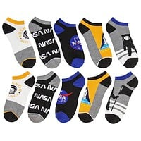 Buzz Aldrin NASA Themed No-Show Ankle Socks 5 Pair Set