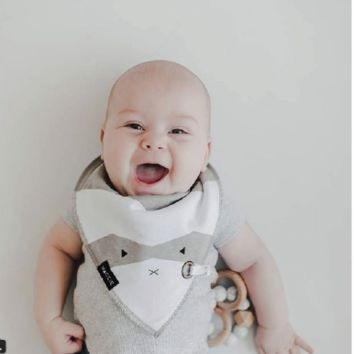 Adorable Animal Baby Bibs with Pacifier Ties