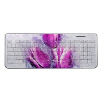 Floral Watercolor Design Wireless Keyboard