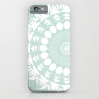 Baby Blue Mandala iPhone & iPod Case by Mockingbird Avenue