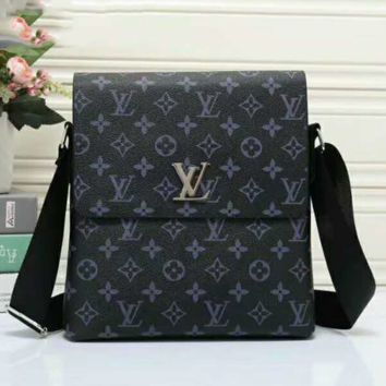 LV Men Office Bag Leather Satchel Shoulder Bag Crossbody G-LLBPFSH