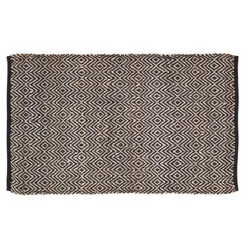 Zuma Black - Jute & Cotton - Handwoven -  20 x 30 - Rug