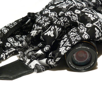 Aztec Camera Strap, Scarf Camera Strap, Canon, Nikon Camera Strap, Women Accessories