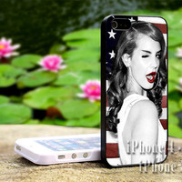 Lana Del Rey American Flag-iPhone 4/4s, iPhone 5, 5s, 5c, iPod 4, iPod 5, Samsung Galaxy s3, s4 Case