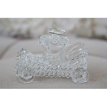 Vintage Hand Blown Glass Classic Car Figurine High Quality