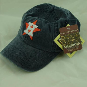 Houston Astros Washed Twill New Raglin Baseball Cap By American Needle
