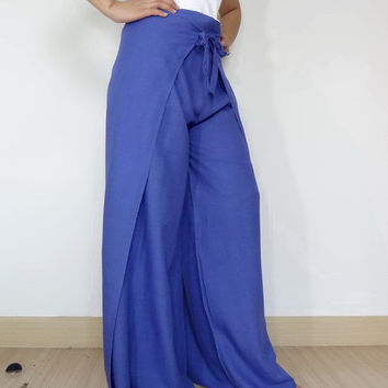Unisex Pant String Tie Pants (Wrap pants)... Loose And Comfy Rayon in Treasure Blue Color.