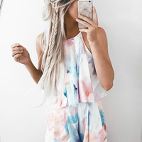 Abstract Multi Colored Mini Romper - FINAL SALE