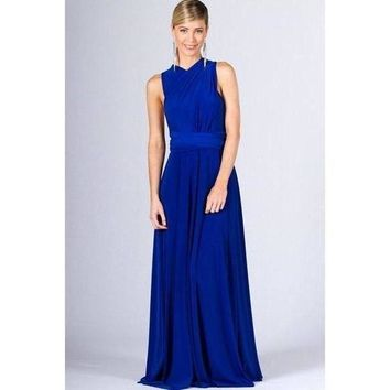 Marilyn Multi-Way Maxi Dress - Royal